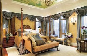 美式乡村风格自然舒适卧室背景墙装修效果图