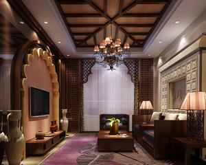 古典歐式風格精致典雅客廳電視背景墻裝修效果圖