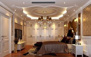 古典欧式风格别墅精致室内卧室吊顶足彩导航效果图