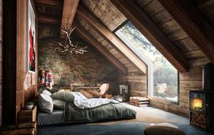 卧室 简约 阁楼 100平米装修