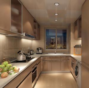 大户型欧式风格精致室内小厨房实木橱柜装修效果图大全