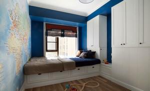 地中海風格自然舒適90平米大戶男生兒童房裝修效果圖