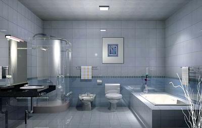 简约时尚创意大户型卫生间隔断装修效果图赏析