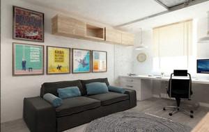 70平米都市温馨时尚简约精品样板房装修效果图