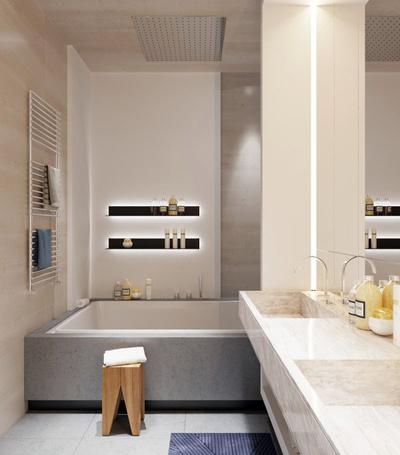 后现代风格大户型创意室内卫生间装修效果图
