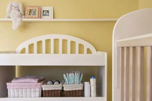 现代简约两居室儿童房收纳柜装修效果图