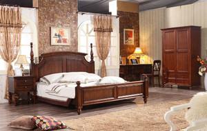 古典美式风格别墅型卧室装修效果图