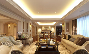 别墅巴洛克风格客厅装修效果图