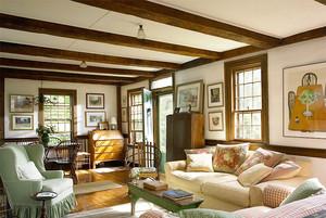 美式乡村风格大户型客厅装修效果图