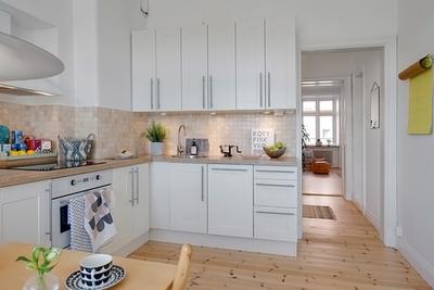 現代簡約開放式廚房設計效果圖