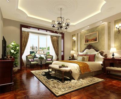 大户型欧式风格卧室吊顶装修效果图