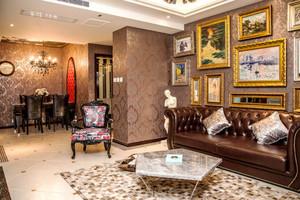欧式风格雅致客厅照片墙设计装修效果图赏析