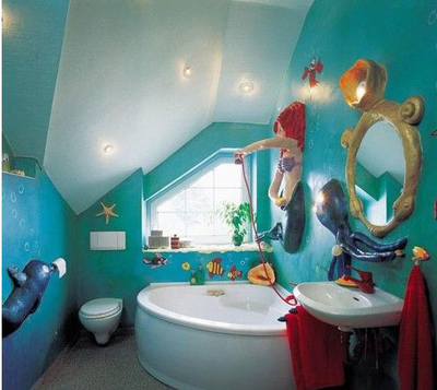 地中海风格创意儿童房卫生间装修效果图鉴赏