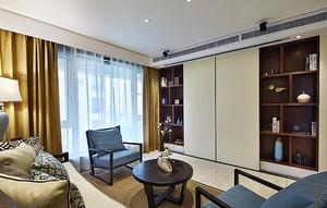 136平米现代美式风格时尚混搭公寓装修效果图