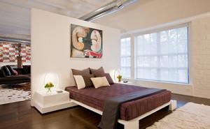 后現代風格大戶型客廳臥室隔斷裝修效果圖