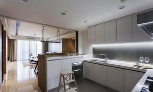 10平米现代简约风格经典白色厨房橱柜设计效果图