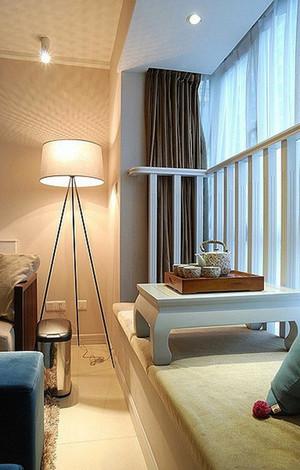 现代简约风格二居室卧室飘窗设计效果图