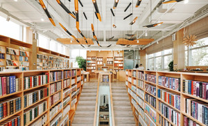 136平米现代自然风格书店设计装修效果图赏析