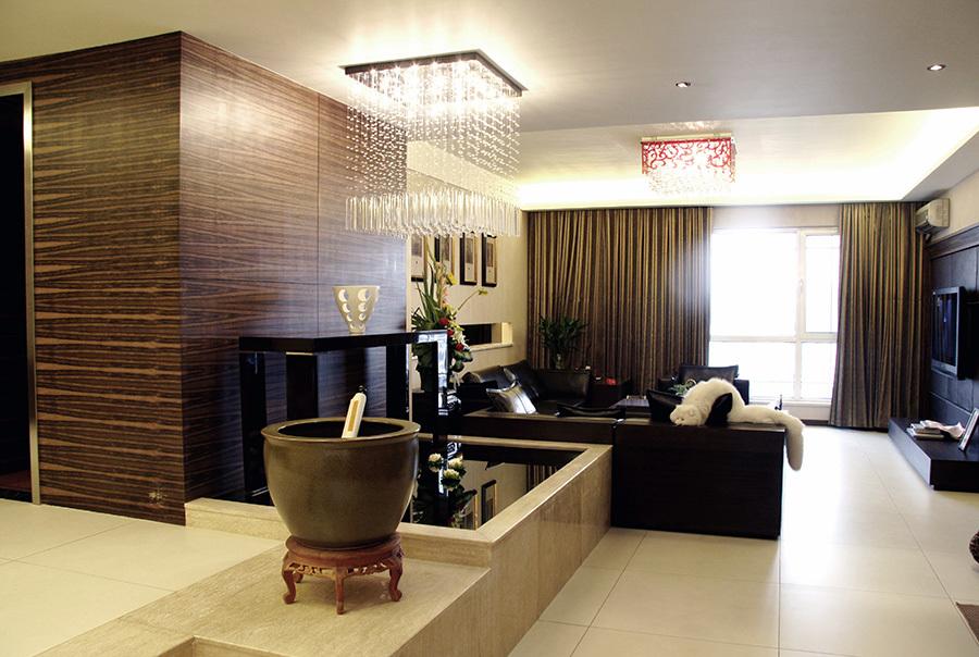 现代简约中式风格两室两厅足彩导航效果图鉴赏