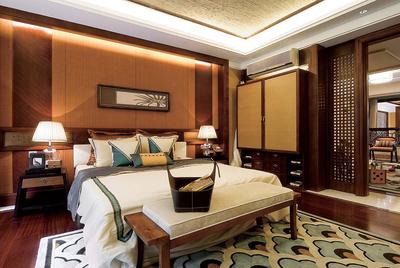 226平米现代简约中式风格别墅室内装修效果图赏析