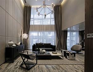 120平米后现代简约风格跃层室内装修效果图