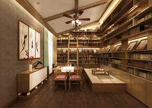 书房 中式 局部其他 120平米装修