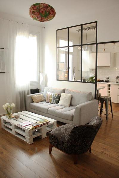 歐式風格三居室廚房客廳隔斷設計效果圖賞析