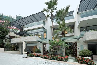 现代简约中式风格联排别墅户型图装修效果图