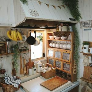 日式風格一居室廚房設計裝修效果圖鑒賞