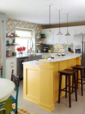 厨房 现代 吧台 70平米装修