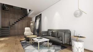 106平米现代简约风格复式楼楼梯装修效果图