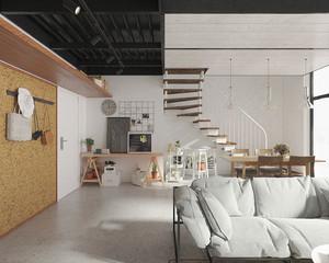 50平米现代loft风格错层室内足彩导航效果图