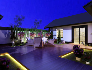 乡村风格入户花园设计装修效果图