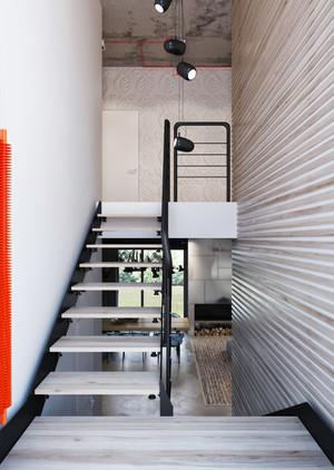 166平米后现代风格复式楼楼梯装修效果图