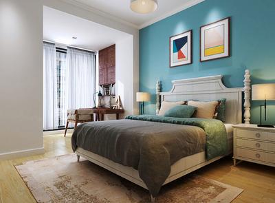 簡歐風格大戶型室內臥室背景墻裝修效果圖