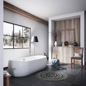 宜家风格大户型室内创意卫生间卫浴足彩导航效果图
