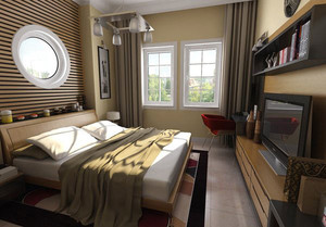 卧室 简约 局部其他 120平米装修