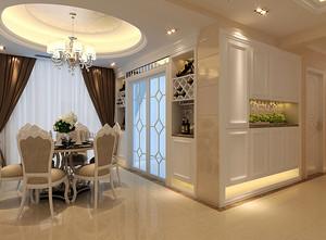 70平米欧式风格餐厅酒柜设计效果图鉴赏