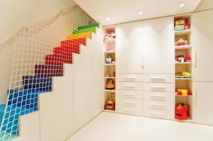 现代简约风格时尚创意错层楼梯足彩导航效果图