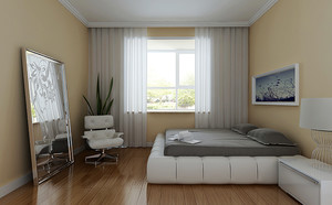 卧室 现代 窗帘 一居室足彩导航