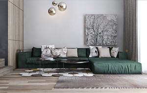 后現代風格一室一廳一衛室內裝修效果圖
