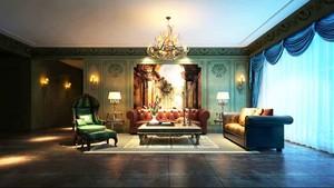 179平米优雅新古典主义风格大户型室内装修效果图