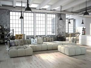 后現代風格大戶型室內客廳沙發裝修效果圖
