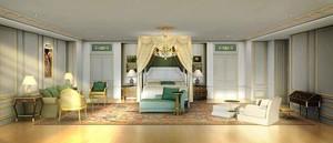 60平米欧式风格奢华酒店客房装修效果图赏析