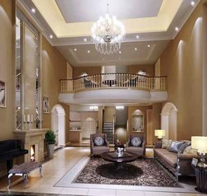 典雅欧式风格跃层客厅装修效果图
