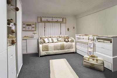 简欧风格温馨典雅婴儿房设计装修效果图