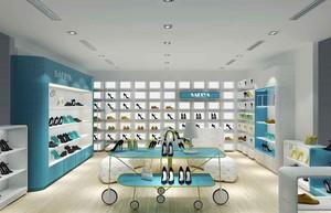 60平米现代风格鞋店展柜装修效果图赏析