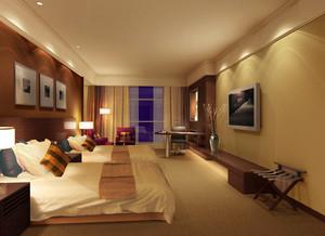 50平米新中式風格賓館客房裝修效果圖賞析
