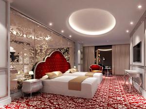 欧式风格精致大气五星级酒店客房装修效果图