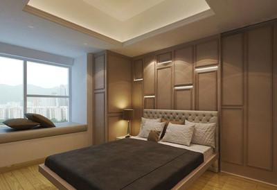 簡歐風格精致臥室背景墻裝修效果圖
